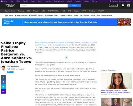 Selke trophy finalists  patrice bergeron Jonathan