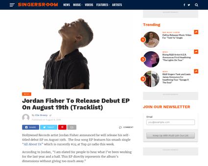Jordan fisher to release debut ep on aug Jordan