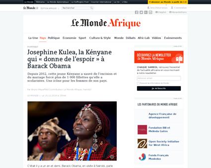 Josephine kulea la kenyane qui donne de  Josephine