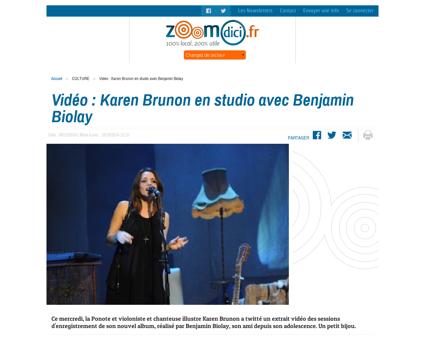 Video%C2%A0 Karen Brunon en studio avec  Karen