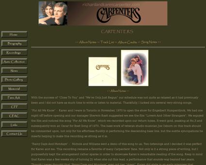 Album Carpenters Karen