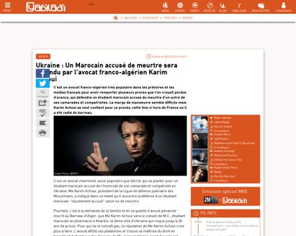 Ukraine marocain accuse meurtre sera Karim