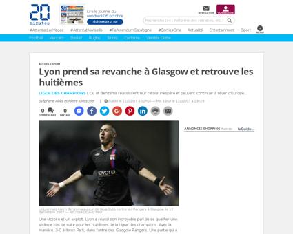 Sport Lyon prend sa revanche a Glasgow e Karim