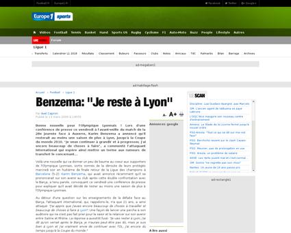 Benzema je reste a lyon 218902 Karim