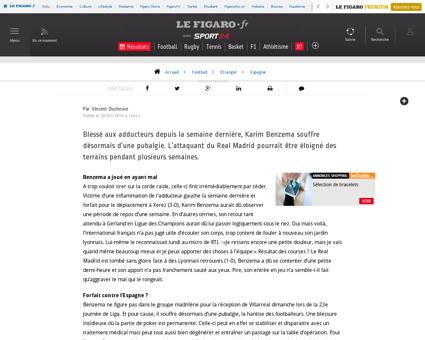 Pubalgie pour benzema 354647 Karim
