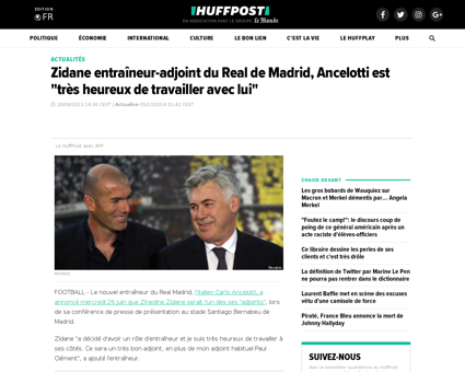 Zidane entraineur adjoint real madrid an Karim