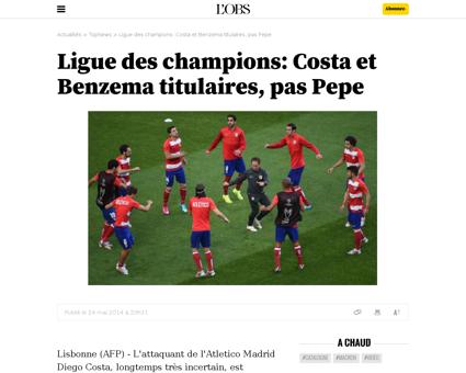 Ligue des champions costa et benzema tit Karim