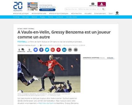Sports a vaulx en velin gressy benzema j Karim