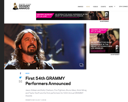 First 54th grammy performers announced Kelly