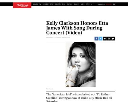 Kelly clarkson etta james concert radio  Kelly