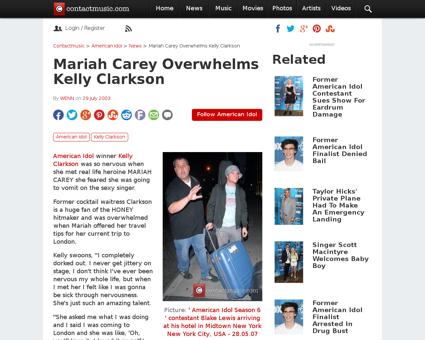 Mariah carey overwhelms kelly clarkson Kelly