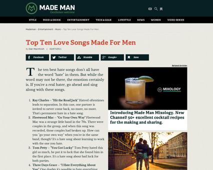 Top ten love songs made men Kelly