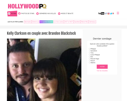 Kelly clarkson en couple avec brandon bl Kelly