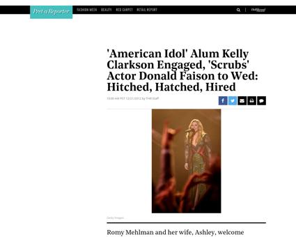 American idols kelly clarkson engaged 40 Kelly