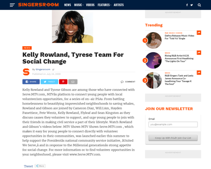 Kelly Rowland Tyrese Team For Social Cha Kelly