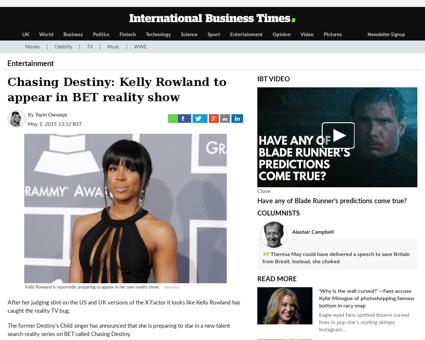 Chasing destiny kelly rowland appear bet Kelly