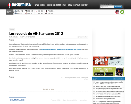 Les records du all star game 2012 Kevin