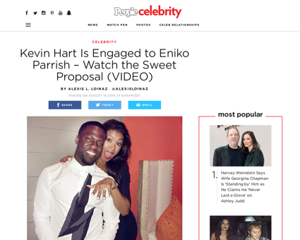 Kevin hart engaged eniko parrish Kevin