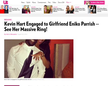Kevin hart engaged to girlfriend eniko p Kevin