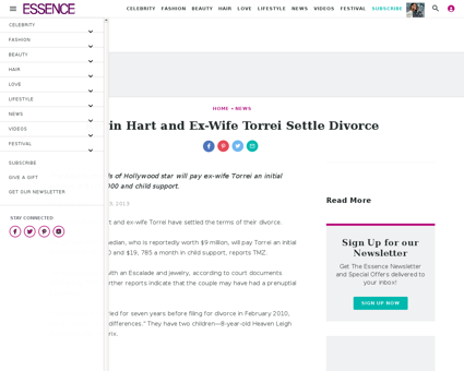 Kevin hart and ex wife torrei settle div Kevin