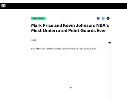 352779 mark price and kevin johnson nbas Kevin
