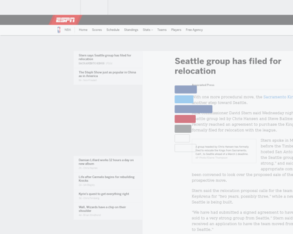 David stern says seattle group bid sacra Kevin