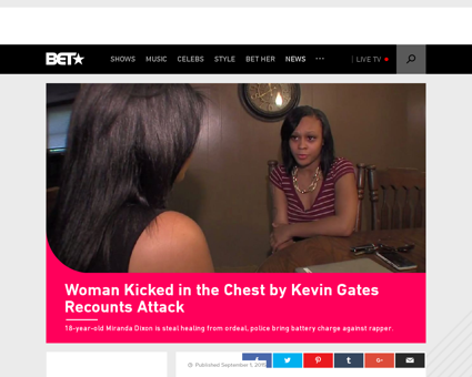 Woman kicked in the chest by kevin gates Kevin