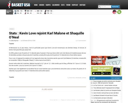 Stats kevin love rejoint karl malone et  Kevin