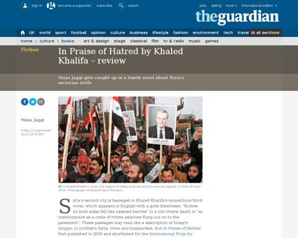 In praise hatred khaled khalifa review Khaled