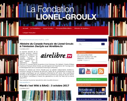 fondationlionelgroulx.org Lionel