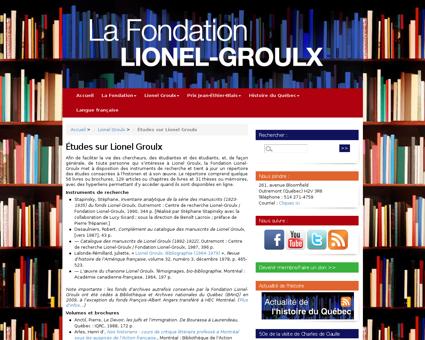 Etudes sur Lionel Groulx Lionel