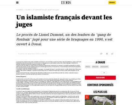 Un islamiste francaisdevant les juges Lionel