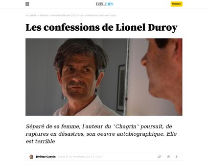 Les confessions de lionel duroy Lionel