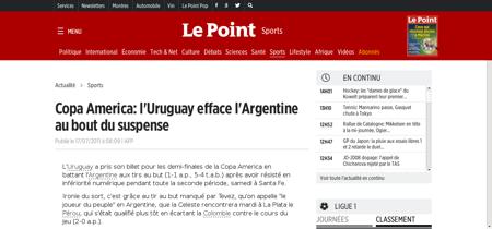 Copa america l uruguay efface l argentin Lionel