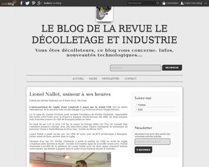 Article lionel nallet usineur a ses heur Lionel
