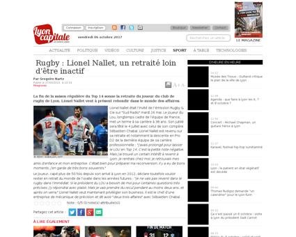 Rugby Lionel Nallet un retraite loin d e Lionel