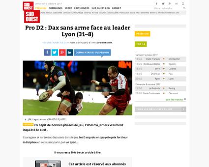Dax sans arme face au leader 1245677 8 Lionel