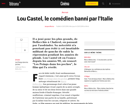 Lou castel le comedien banni par l itali Lou