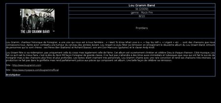 Lou gramm band Lou