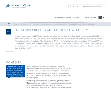 Louise arbour laureate du prix special d Louise