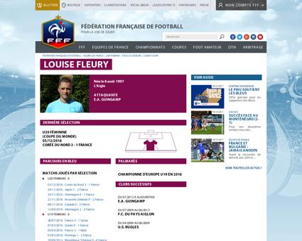 Football louise fleury vice championne m Louise