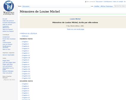 Mémoires de Louise Michel Louise