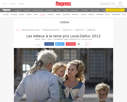 Les adieux a la reine prix louis delluc  Louise