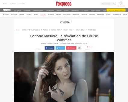 Corinne masiero portrait par son cyril m Louise