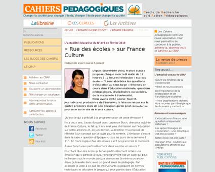 Rue des ecoles sur France Culture Louise
