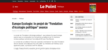 Europe ecologie le projet de fondation d Lucile