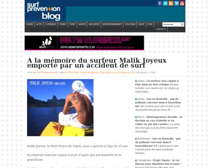 Trois ans apres la mort de malik joyeux Malik