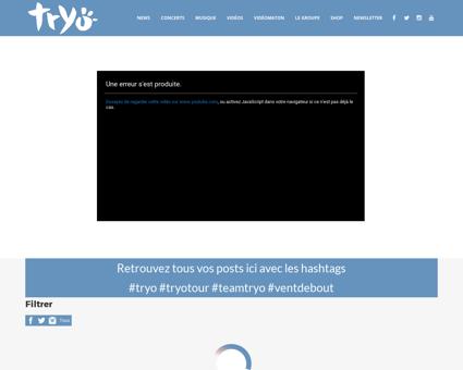 Tryo.com Manu