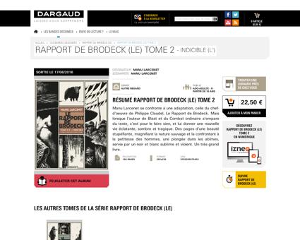 Rapport de Brodeck Le tome 2 Indicible L Manu