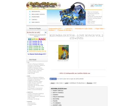 Kizomba duetos love songs vol2 cddvd p 7 Manu